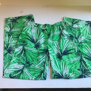 Cremieux tropical palazzo pants